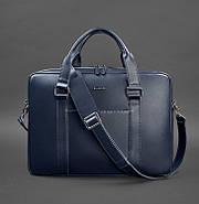 Деловая сумка для ноутбука и документов (темно-синяя) , фото 3