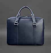 Деловая сумка для ноутбука и документов (темно-синяя) , фото 4