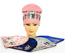 """Трикотажні шапки """"Ляльки LOL"""" для дівчинки"""