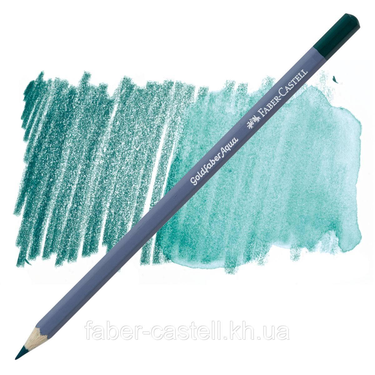 Карандаш акварельный Faber-Castell Goldfaber Aqua цвет темно-кобальтовая зелень №158, 114658