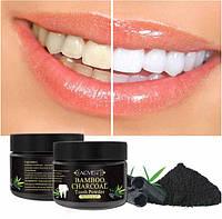 Отбеливающий зубной порошок Aliver с бамбуковым углем и мятой