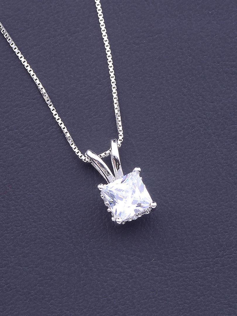071645 Подвеска Серебро(925) Фианит 40 см.