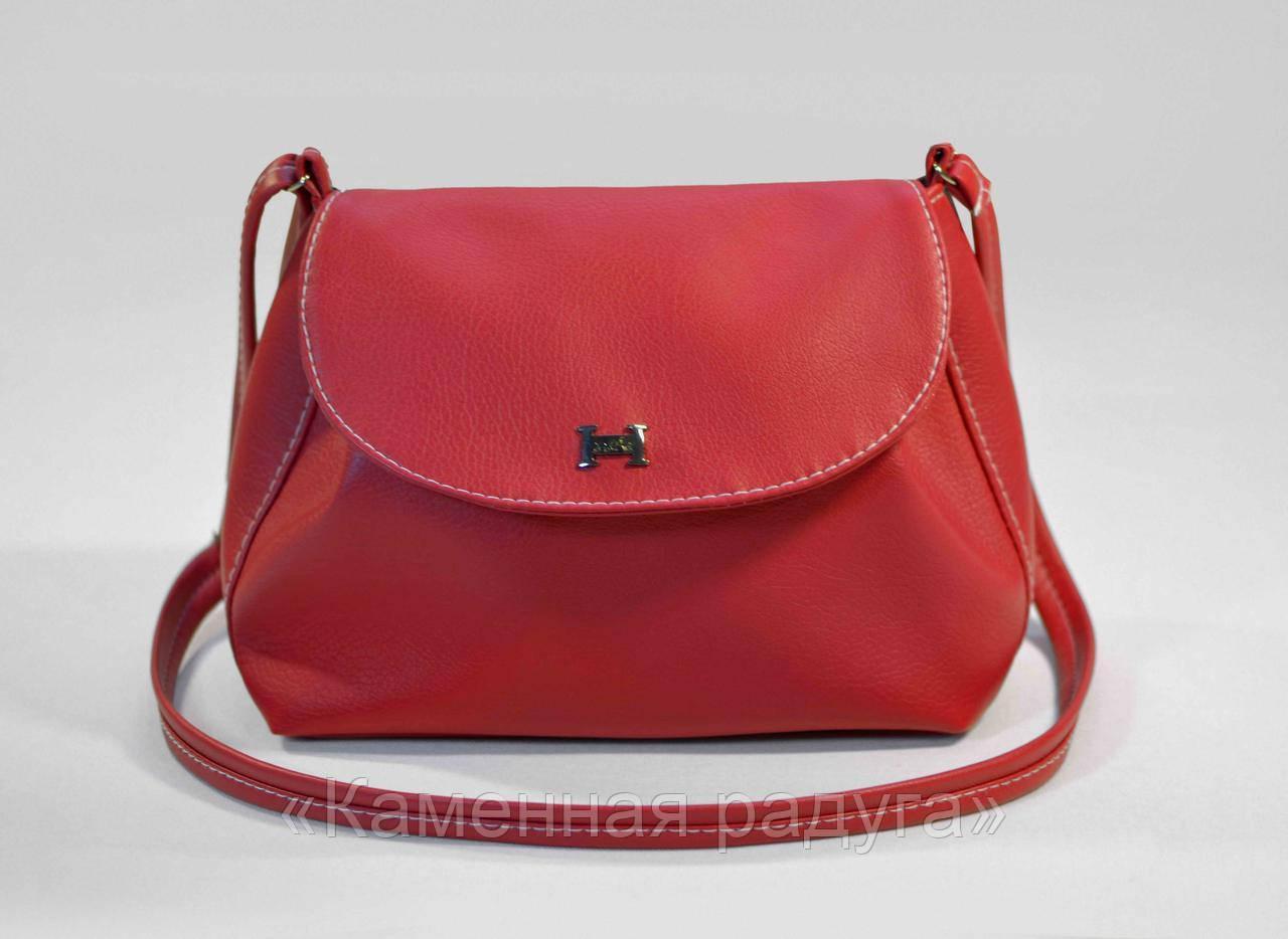 Стильная красная сумочка кроссбоди