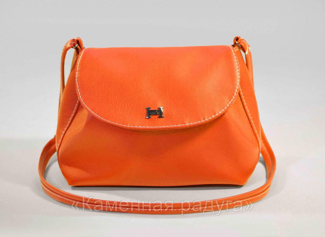 Стильная оранжевая сумочка кроссбоди