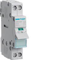 Выключатель нагрузки 2-полюсный 25А/230В, 1м, Hager SBN225