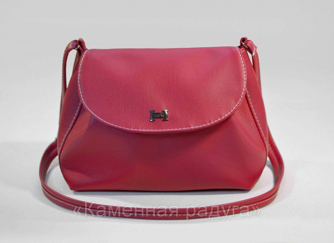Стильная малиновая сумочка кроссбоди
