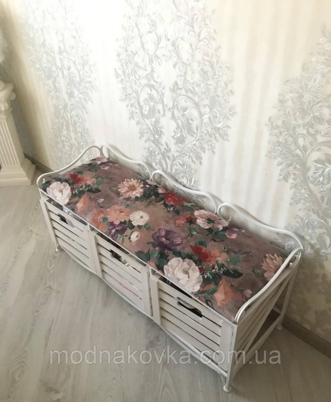 Диван (этажерка-лавка кованая) на 3 ящиками