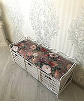 Диван (этажерка-лавка кованая) на 3 ящиками, фото 1