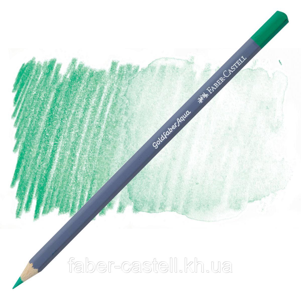 Карандаш акварельный Faber-Castell Goldfaber Aqua цвет светло-бирюзовая зелень №162, 114662