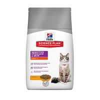 Хиллс корм для взрослых кошек с чувствительным желудком и кожей, Adult Sensitive Stomach 0,4кг