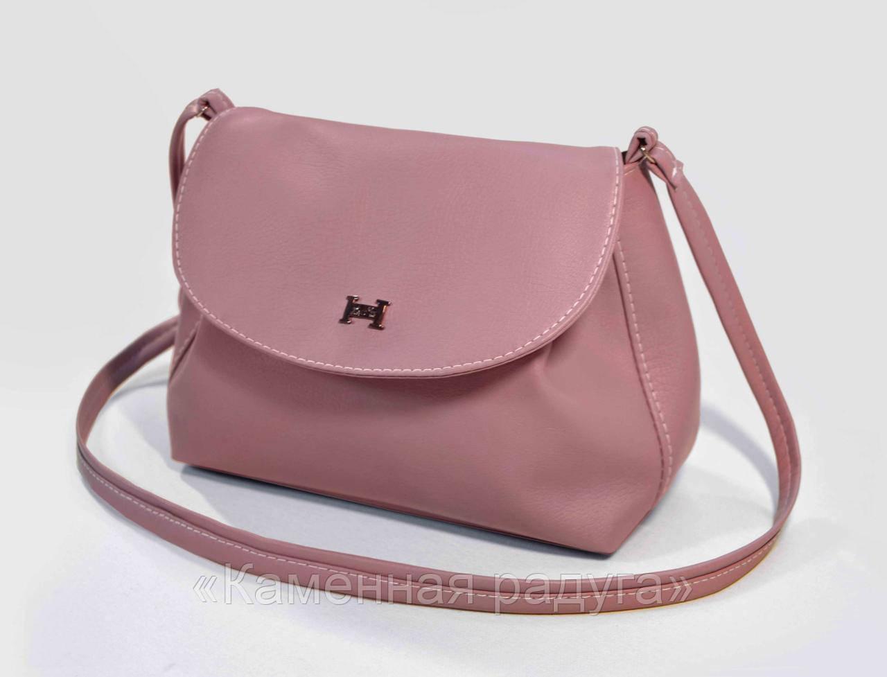 Стильная сиреневая сумочка кроссбоди
