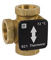Термічний 3 ходовий перемикаючий клапан LK 821 Thermovar 22мм 45°