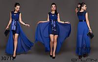 """Платье женское нарядное с гипюром, размер 42-46 (3цв) """"ANNA"""" недорого от прямого поставщика, фото 1"""