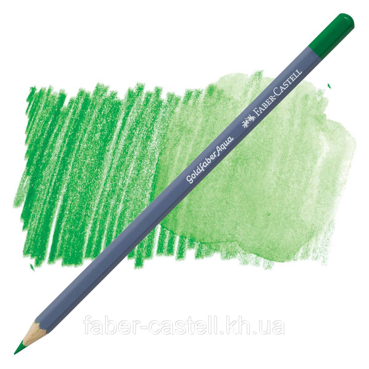 Карандаш акварельный Faber-Castell Goldfaber Aqua цвет насыщенный зеленый № 266 (Permanent Green), 114696