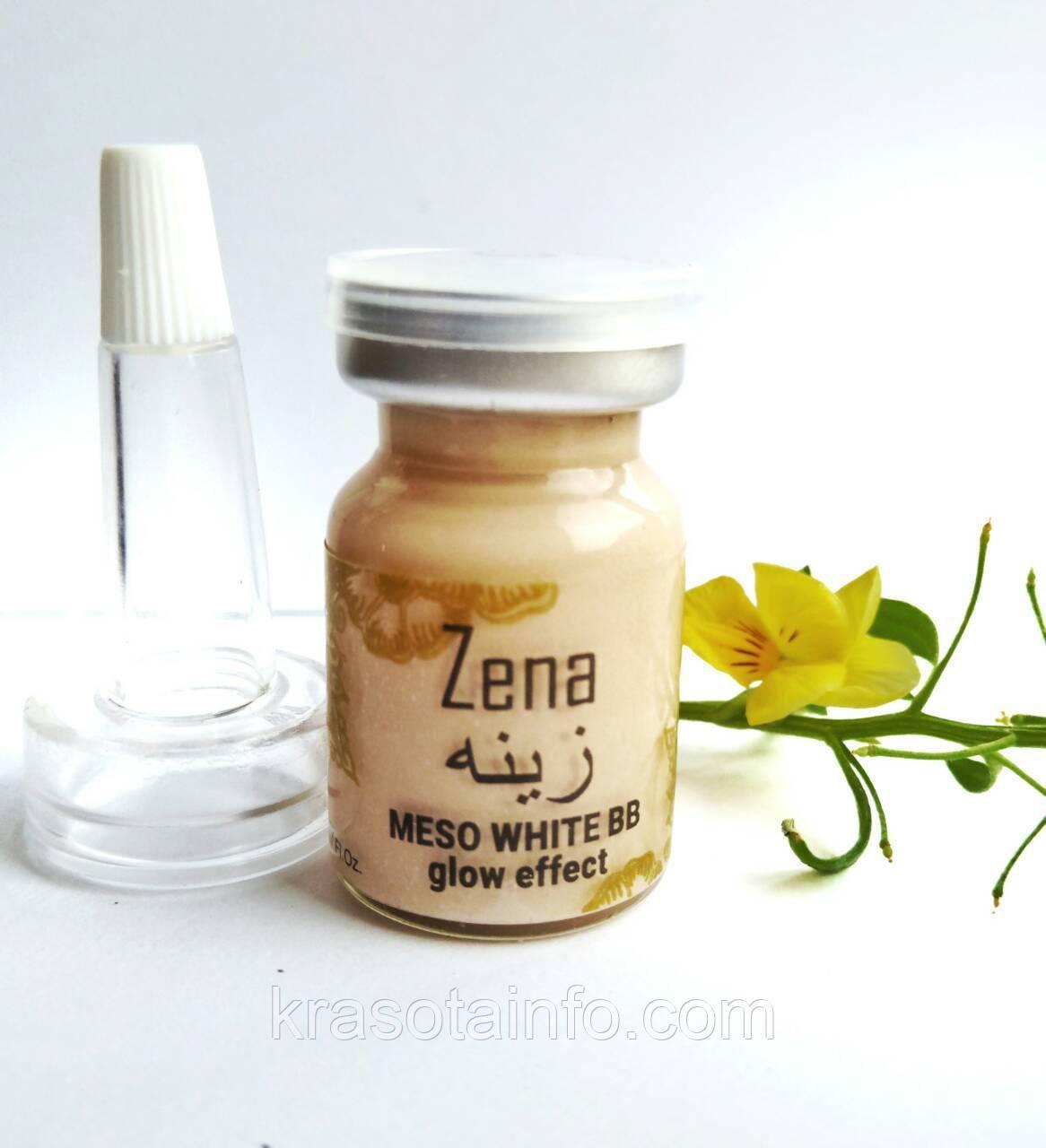 BB glow treatment ББ мезо для процедуры бб глоу тритмент BB meso white skin Zena, 5 мл