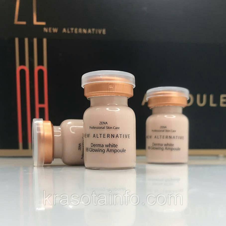 BB glow Zena № 21 treatment ББ мезо для процедуры биби глоу BB meso white skin, Zena, 5 мл