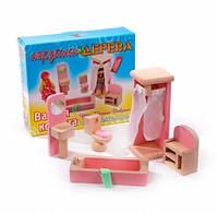 Набор мебели для кукол Ванная комната, Мир деревянных игрушек (Д274)