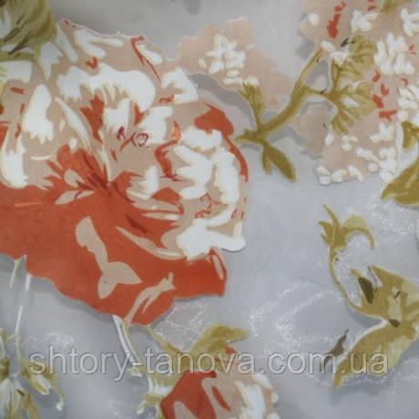 Органза роза-терракот
