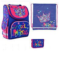 Набір рюкзак шкільний 1 Вересня Smart PG-11 Cool Princess для дівчинки 555906 пенал 532012 сумка 556073