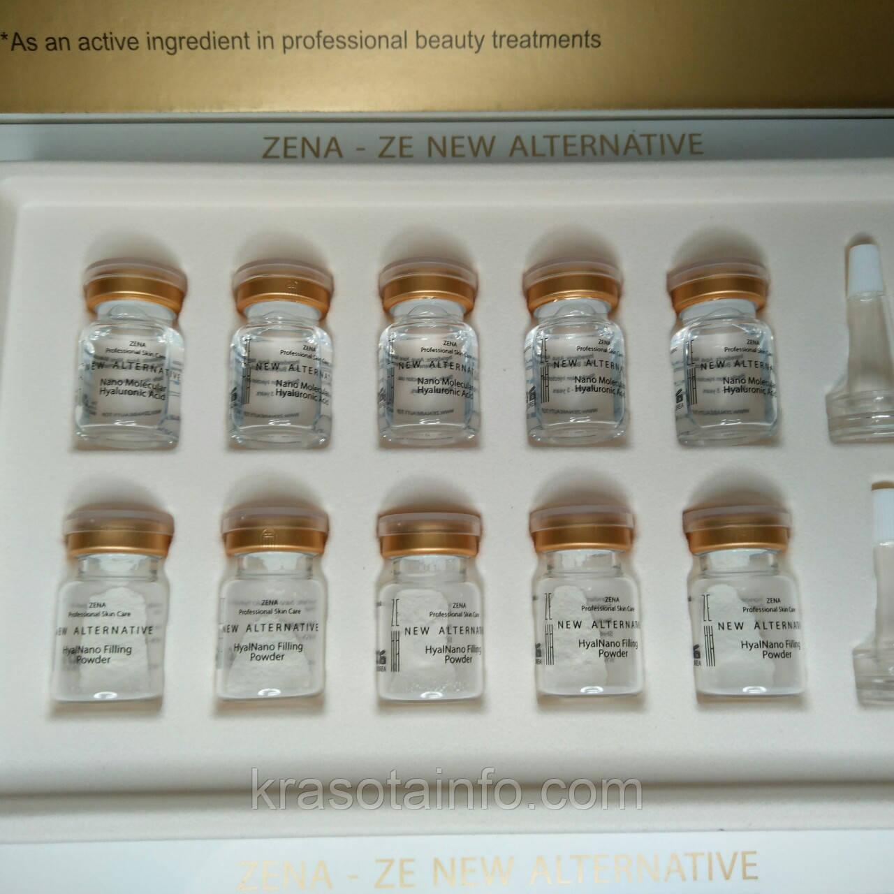 Набор для заполнения дефектов кожи нано-гиалуроновой кислотой, Hyalnano Fillin , Zena, 5 мл, 10 штук
