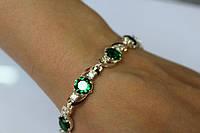 Серебряный браслет женский с камнем 16.5г серебро 925 золото 375 все размеры три цвета