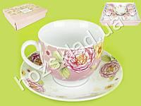 SALE! Сервиз чайный 9 предметов (чашка 220мл, блюдце 14см)