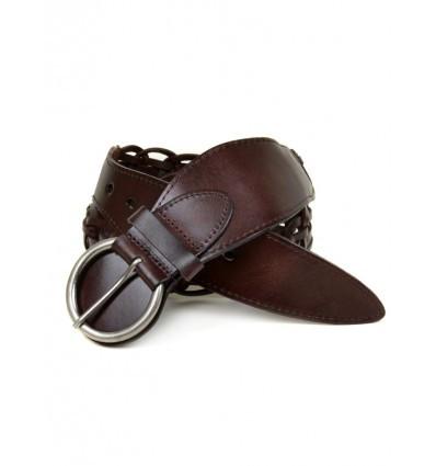 Декоративный женский кожаный ремешок 269 coffee коричневый