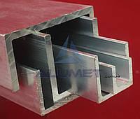 Швеллер алюмниевый 40х40х2 мм без покрытия