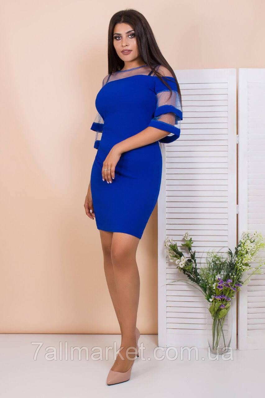 """Платье женское нарядное с 3/4 рукавом размеры 44-50 (2цв) """"SVITANOK"""" купить недорого от прямого поставщика"""