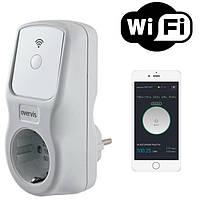 Многофункциональный таймер, реле напряжения, энергометр Wi-Fi (умная розетка) Новатэк ЕМ-125