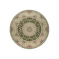 Ковер RoyalEsfahan-1.5 2194B green cream 200*200 круглый