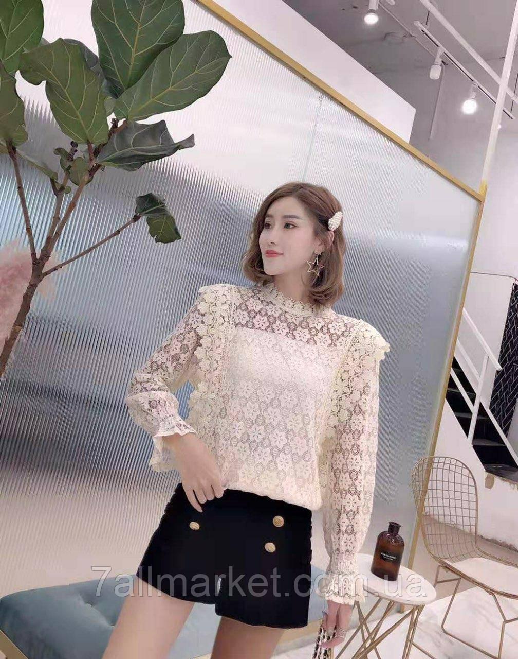 """Блузка женская нарядная кружевная, размер 42-46 (3цв) """"SPRING"""" купить недорого от прямого поставщика"""