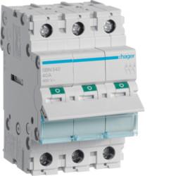 Выключатель нагрузки 3-полюсный 40А/400В, 3м, Hager SBN340