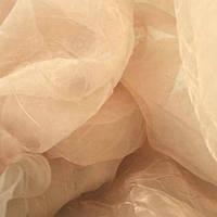 Органза (мо) креш паутина 500br/27 беж/розов