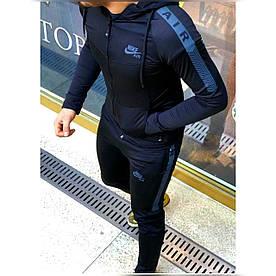Мужской спортивный костюм найк, кофта и штаны. Размеры с м л хл ххл. Цвет хаки и черный