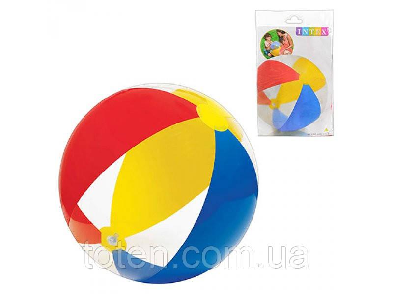 Детский надувной мяч Intex 59032 разноцветный, 61см 59030