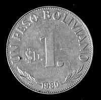 Монета Боливии 1 песо боливиано 1980 г.