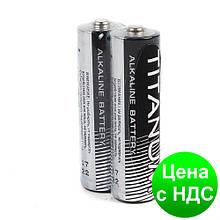 Батарейка щелочная Titanum LR6/AA LR 2pcs SHRINK (пальчик) BK