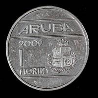 Монета Арубы 1 флорин 2009 г.