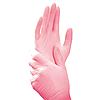 Перчатки нитриловые неопудренные, розовый, S 100 шт,Polix P&M
