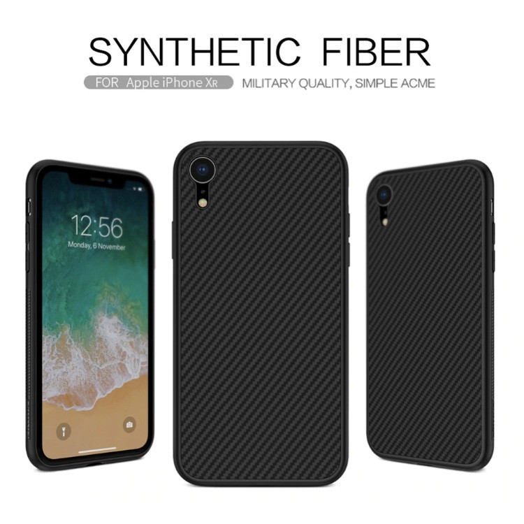 Карбоновый чехол для iPhone XR Nillkin Synthetic Fiber