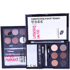 Farres - Набор теней для бровей 6-цв. Brow Palette Love Naked Тон 03, фото 3