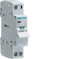 Выключатель нагрузки 1-полюсный с идикацией при включении 16А/230В, 1м, Hager SBT116