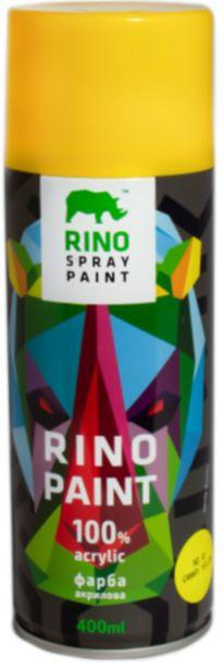 Універсальна акрилова аерозольна емаль Rino Paint (Жовта RP-41)