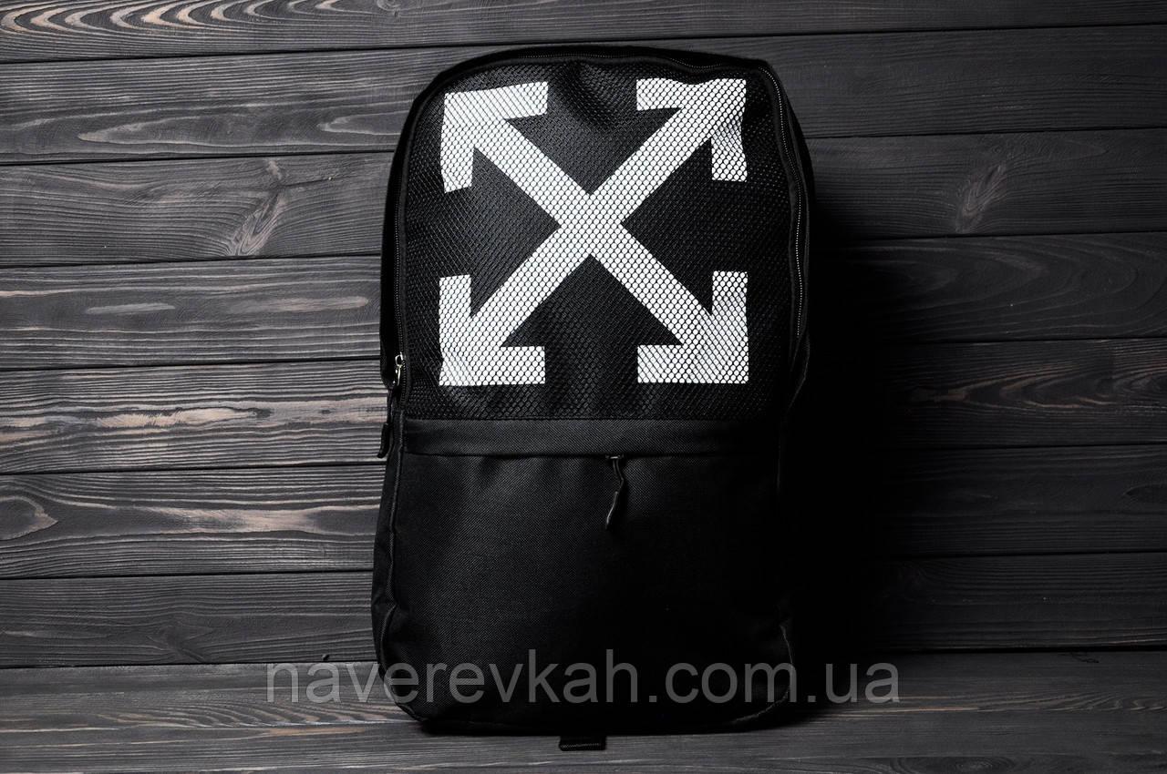 Рюкзак ОФФ-крестик черный синий 45х32х16