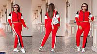 Женский спортивный костюм красный 48-50 52-54