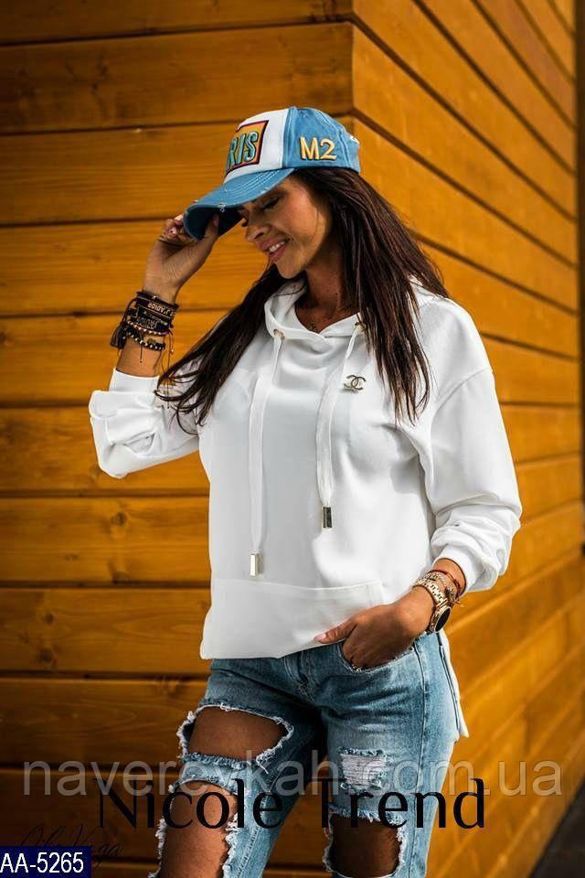 Женский батник белый голубой пудра 42-44 44-46