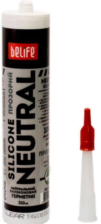 Нейтральный силиконовый герметик (Прозрачный SN-350), 310 мл
