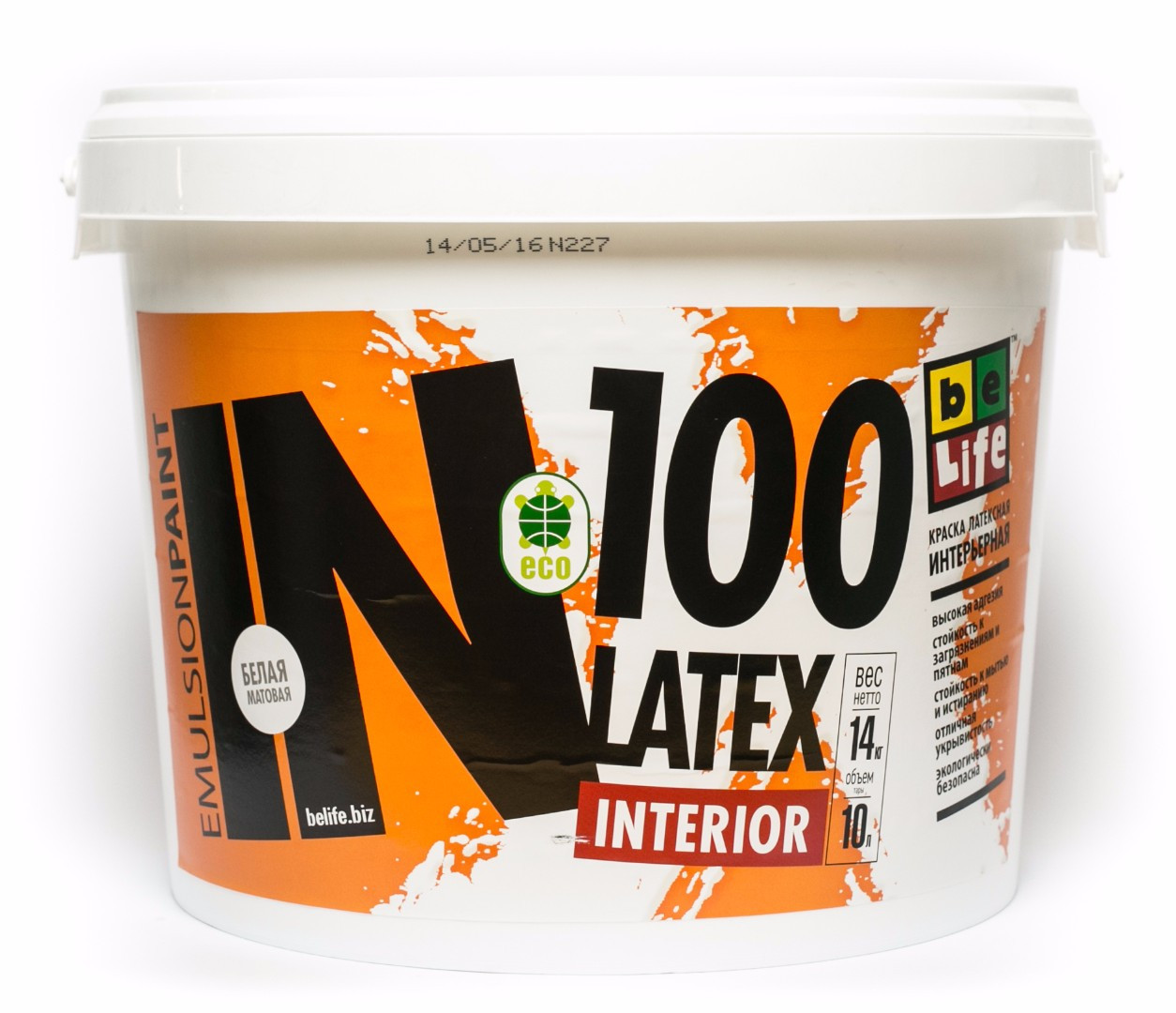 Латексна матова фарба Interior Latex IN100, 10л