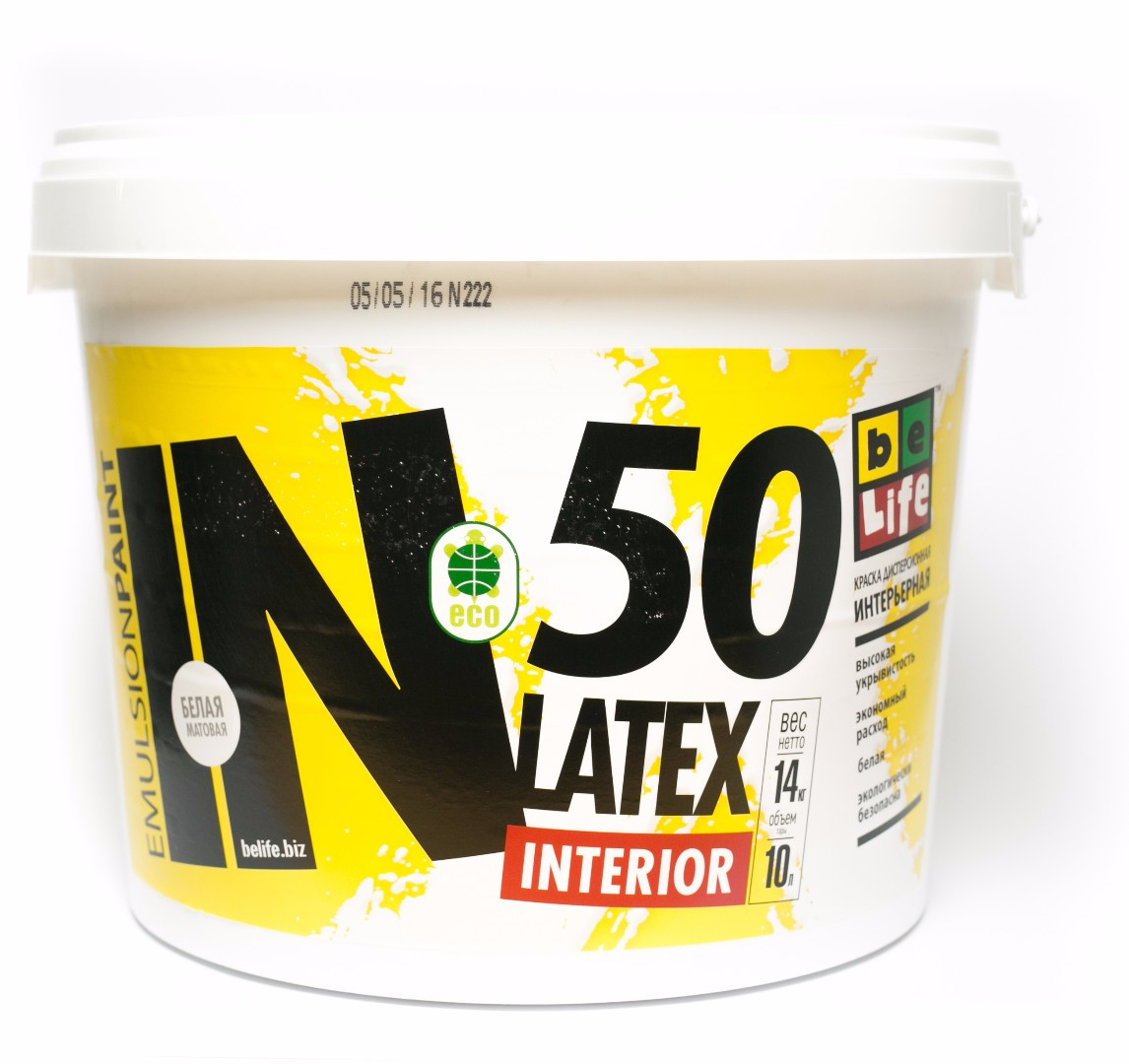 Интерьерная дисперсионная краска Latex Interior IN50, 10л